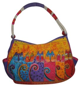 Laurel Burch Canvas Cats Shoulder Bag