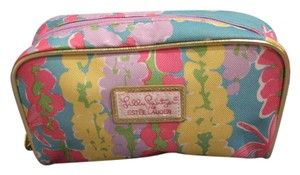 Lilly Pulitzer Lilly Pulitzer for Estee Lauder Cosmetic Bag with Gold Trim