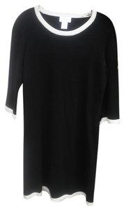 Neiman Marcus Silk Cashmere Knit Contrast Dress