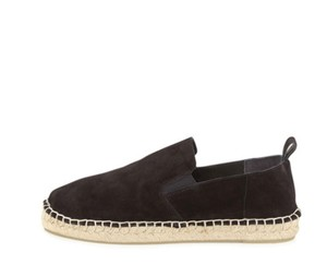 Vince Espadrille Fall Suede Black Flats