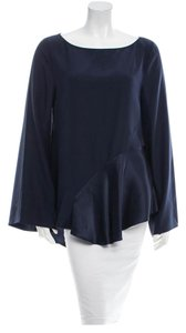 Elizabeth and James Silk Top Navy Blue
