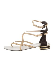 Rene Caovilla Kid Strass Kid Strass Black Sandals