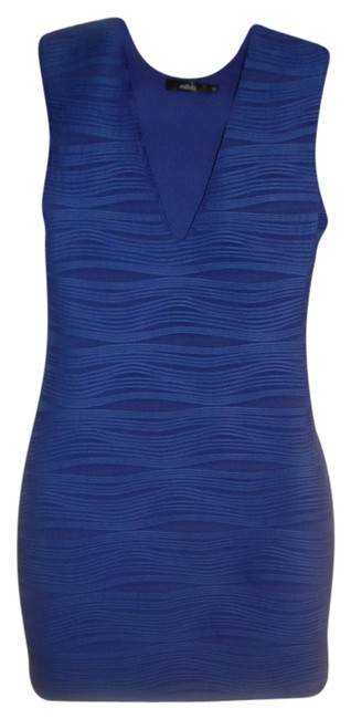 Item - Blue Mini Night Out Dress Size 4 (S)