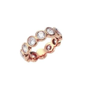 Michael Kors Michael Kors MKJ4787 Park Ave Circles Crystal Rose Gold Ring SZ 6