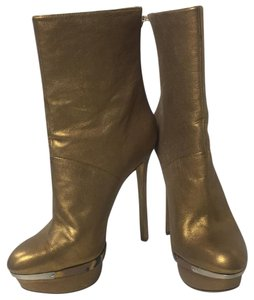 Brian Atwood Gold Boots