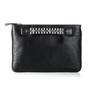 DANNIJO Leather Swarovski Black Clutch