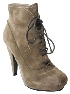 Proenza Schouler Lace Up Camel Suede Boots