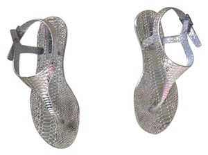 Steve Madden Box Great For Like New No Signs Of Wear Metallic Silver Sandals