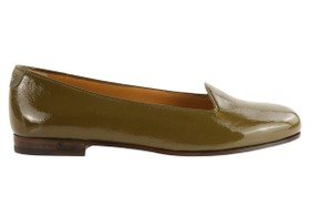 Gucci Patent Leather Ballet Green Flats