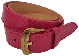 Louis Vuitton Rose pop monogram Vernis Louis Vuitton belt XS