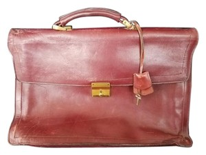 USA Leather Briefcase Key Red Messenger Bag