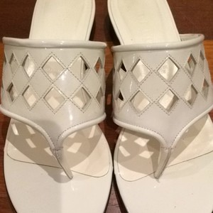 Bally white patent leather Sandals