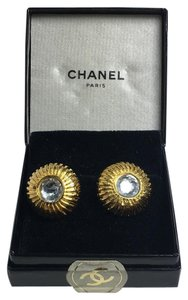 Chanel Crystal Medallion Earrings