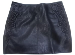 Guess Leather Mini Skirt Black