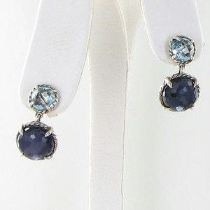 David Yurman David Yurman Earrings Chatelaine Double Drop Amethyst Blue Topaz 925