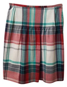 Brooks Brothers Skirt Red/Navy Green/Off White