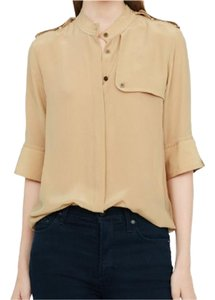 Club Monaco Silk Top Tan