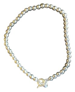 Ralph Lauren Heavy silver ball necklace