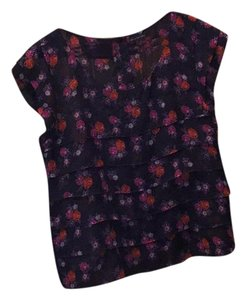 American Eagle Outfitters Top Black red