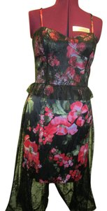 Marchesa Holiday Lace Floral Rose Dress