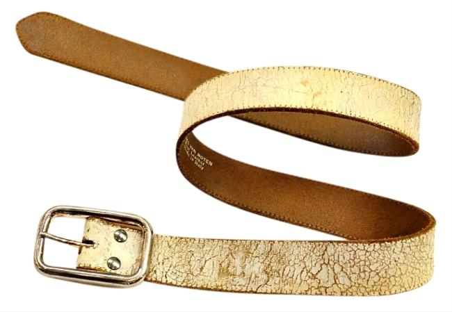 Item - White Detressed Leather Belt