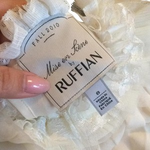 RUFFIAN Anthropologie Beaded Top Off-white