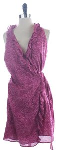 Ann Taylor LOFT short dress PURPLE Sleeveless Wrap on Tradesy