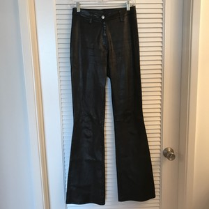 Bakers Leather Flare Size 38 Flare Pants Black