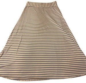 J.Crew Maxi Skirt White with blue stripes
