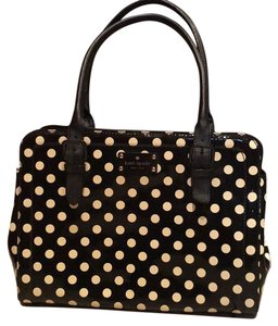 Kate Spade Tote in Black With White Polka Dots