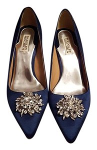 Badgley Mischka Navy Pumps