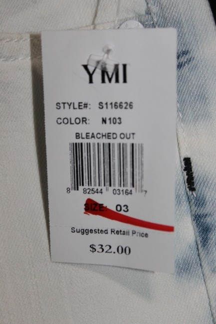 YMI Jeans Mini/Short Shorts Bleached Out