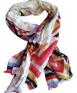 Tory Burch T stripe scarf