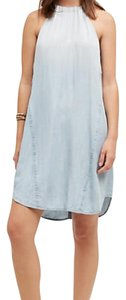 Cloth & Stone short dress Denim blue on Tradesy