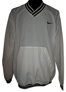 Nike V-neck Large Mens white/navy Jacket
