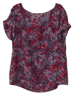 BCBGeneration Top Red/Blue Print
