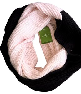 Kate Spade Kate Spade New York Pink and Black Block Infinity Scarf, New with Tags