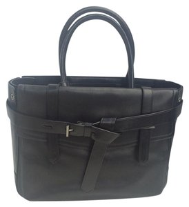 Reed Krakoff Classic Leather Satchel Tote in Black