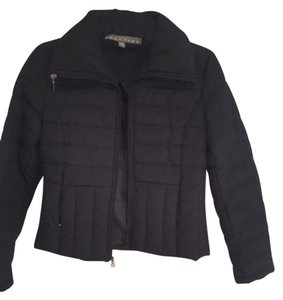 Kenneth Cole Reaction Puffy Zipper Pockets Black Jacket