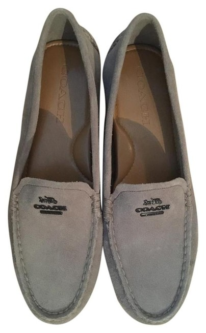 Item - Gray Mary Lock Up Suede Loafers Flats Size US 7.5 Regular (M, B)