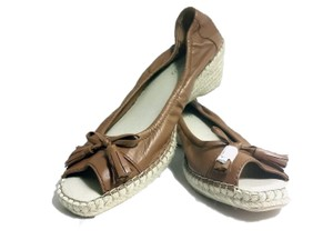 Tignanello Peep-toe Espadrille Brown Wedges
