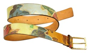 Etro Patch work painted belt