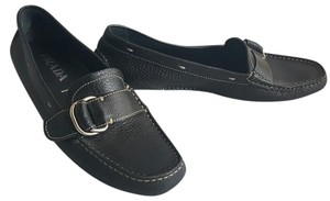 Prada Loafers Driving Black Flats