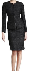 Albert Nipon Albert,Nipon,Two,Piece,Metallic,Tweed,Suit,Set