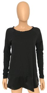 Worth Satin Knit Casual T Shirt Black