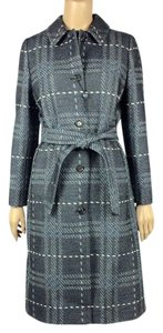 Burberry London Wool Grey Trench Coat