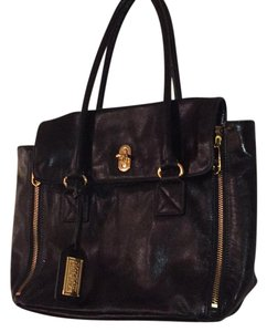 Badgley Mischka Tote in Black and Tan