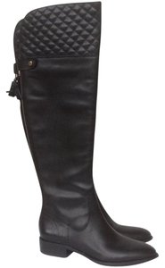 Vince Camuto Quilted Riding Black Boots