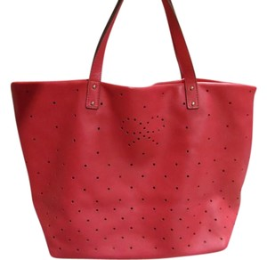 Anya Hindmarch Leather Perforated Tote in Pink