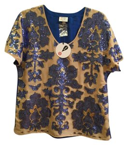 Tracy Reese Top Blue and gold
